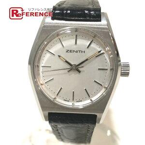 زينيث زينيث 01.0480.210 تونو ساعة يد نسائية ذات تعبئة يدوية SS x حزام جلد فضي × أسود سيدات [مستعملة]