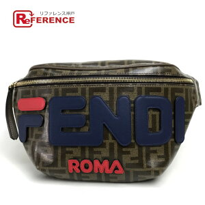 FENDI Fendi 8BM006 FIRA Collaboration (Fila) Zucca Logo Waist Pouch Belt Bag Hip Bag Body Bag Leather/Coating Fabric Unisex [Used]