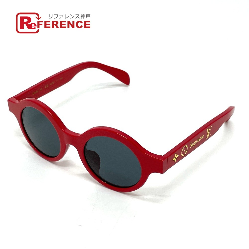 眼鏡・サングラス, サングラス LOUIS VUITTON Z0989E 17aw Supreme Louis Vuitton ROUND (RED)