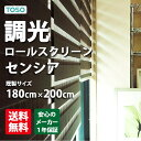 無地/調光ロールスクリーン/新スタイル/2種類のスクリーンで光を調節/TOSOセンシア(調光ロールスクリーン)  巾180cm×丈200cmの写真
