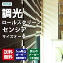 ロールスクリーン センシア 【規格サイズ】 幅90cm×高さ200cm (ナチュラルシリーズ) TOSO