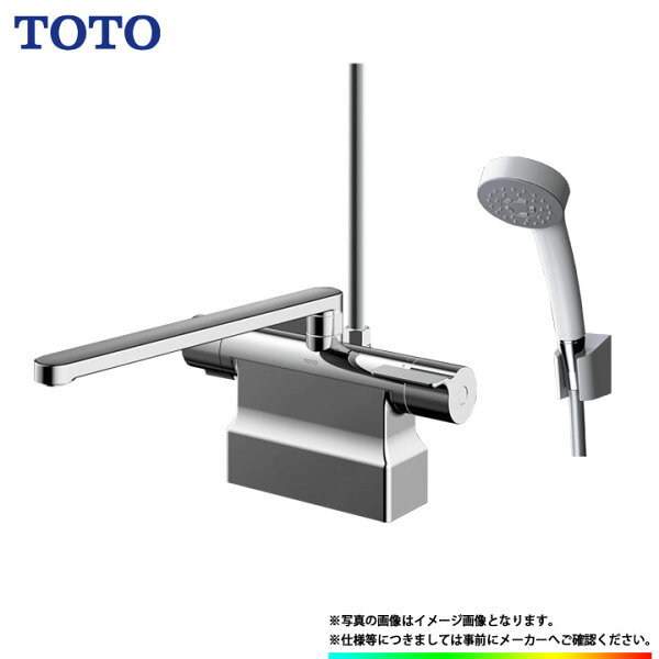 *あす楽 TBV03423J TOTO浴室エコシャワー水栓蛇口サーモ付台付きタイプデッキタイプスパウト300ミリω
