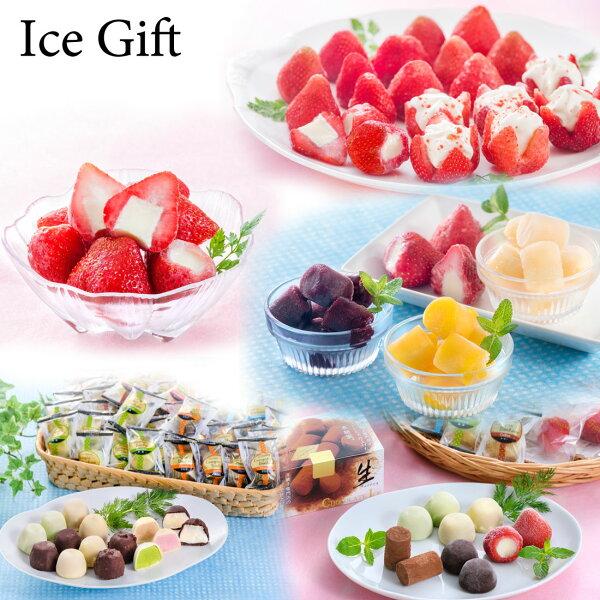 【送料無料】【ICEGift】お花いちごひとくちジェラートチョコアイスボール春摘み一口アイス誕生日プレゼントお祝い贈り物お礼スイーツギフトプレゼント夏のひんやりスイーツ