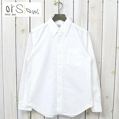 トップス, カジュアルシャツ 10OFForSlow ()BUTTON DOWN SHIRTS-ONE WASH(WHITE)smtb-KDsm15-17or Slow