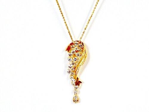 K18×合計ダイヤモンド合計3.00ct ゴールドネックレス