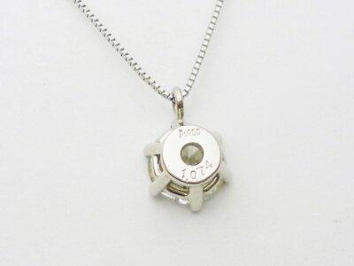 6本爪プラチナダイヤモンドネックレスPt900×ダイヤモンド1.074ctカラー/Iクラリティ/SI2カット/FairGGSJソーティングメモ付