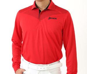 ゴルフシャツ スリクソン<SRIXON>ストレッチ メンズ長袖ポロシャツ3 レッド デサント ランキング 評価 口コミ 上位 プレゼント 贈り物