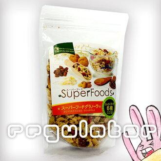 超級食物格蘭諾拉麥片燕麥超級 280 g * 椰子、 可哥、 goldenberry、 蜂蜜、 杏仁、 燕麥