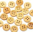【木製ボタン】150個まとめパック木のボタン(ナチュラル)ウッドボタンセット手芸スクラップブッキングやプレゼントラッピング・デコレーションにもアレンジ♪/15mmサイズ150個パック
