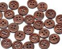 手芸クラフト専門店♪B10383【木製ボタン】木のボタン(ダークブラウン)ウッドボタンセット手...