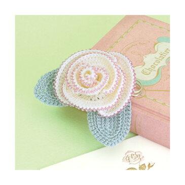 ●取寄品●【レース編みキット】バラのコサージュ【あみものキット】エミーグランデで編むビーズクロッシェキット
