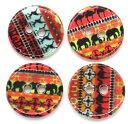 【シェルボタン】10個入貝ボタン(古代壁画風)アパレルボタンクラフトボタン手芸素材(ミックス10個入)/15mmサイズ
