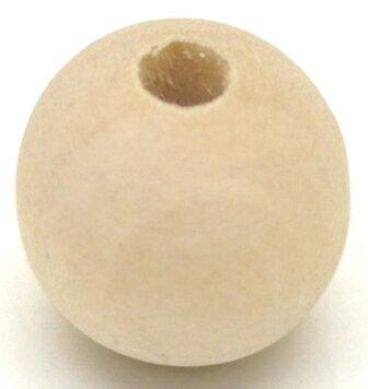 ゆうパケット送料無料 白木ナチュラル100個入ウッドビーズ(木製ビーズ)業務パック北欧スタイルの手作り雑貨にも工作トールペイント/サイズ幅15〜16mm×厚14〜15mm前後の写真
