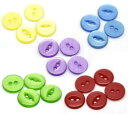プラボタン500個入(5色ミックス)ポップボタンプラスチックボタン(カラフルミックスアソート)ファンシーボタン業務パック/11mm