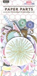 ペーパーパーツ【ダイカットパーツ】ピンクレモネード(1袋)/スクラップブッキングやメッセージカードのデコレーション/手紙やアルバム製作のワンポイントに…♪≪ゆうパケット対応OK!≫