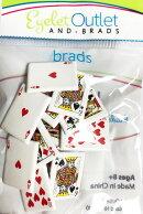 ブラッズピン(割ピン)「トランプ」PlayingCardBrads(12個入)差込み金具スクラップブッキング材料デコレーションラッピング用品/サイズ18mm他