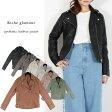 ●取寄品●合皮ダブル ライダースジャケット/ファッションレディースアパレル/[ゆうパケット不可]