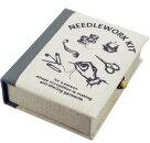 ソーイングボックス(1セット)リネン生地ソーイングセット裁縫箱