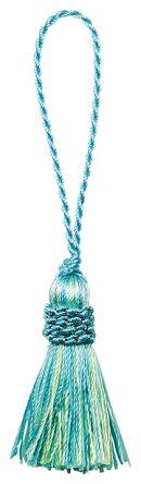 タッセル(BL)1本/小物やアクセサリー・インテリアの装飾にボンボン飾りパーツ/インテリア&ファッション雑貨