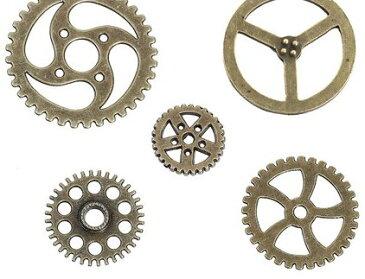 ●少量取寄品●【メタルチャーム】(20個) [ギア歯車MIX] /デザインチャーム/ネックレスピアスペンダントパーツ資材屋/20mm〜34mm