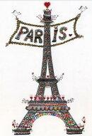 ●取寄品●ポストカードフランス製10枚セットエッフェル塔PARISパリデザインメッセージカード105X148mm