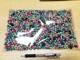 メール便送料無料プラスチックビーズ1300個エクストラパック(グラデーションカラー)MIXデザインアクリルビーズプラビーズビーズ手作りアクセサリー手芸材料/直径8mmサイズ