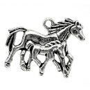 メタルチャーム(1個)/親子馬競馬競走馬デザインチャーム/ペンダントネックレスキーホルダーバッグチャームストラップパーツ