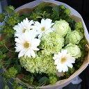 グリーンバラとガーベラのブーケ 花束 ギフト 生花 プレゼン...