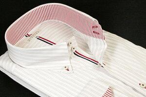 ドレスシャツ | メンズ 4L 5L 大きいサイズ DISFIDA ブランド ドゥエボットーニ ボタンダウン ボタンダウンカラー シャツ 長袖 白 ホワイト ストライプ 日本製 綿 綿100 ワイシャツ Yシャツ 47 49 ノータイ ノーネクタイ ビジネス 男性 おすすめ コーデ 41213-2