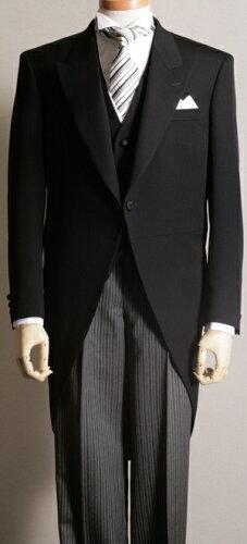 モーニングコート コールズボン付き 日本製 ウールマークブレンド 礼服 モーニング コ...