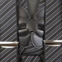 サスペンダー メンズ | Taniwatari タニワタリ ブランド 日本製 ホルスター ホルスター型 サイド吊り ガンタイプ 2点留め ネイビー レジメンタルストライプ 35mm スーツ パンツ スラックス 着こなし 金具 クリップ