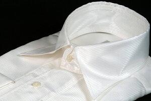 ドレスシャツ | メンズ フォーマルシャツ ダブルカフス 長袖 白 ホワイト 光沢 センクラシャツ ワイシャツ シャツ ノータイ ノーネクタイ フォーマル 紳士 男 男性用 新郎 結婚式 披露宴 二次会 パーティー 衣装 衣裳 おしゃれ 色 柄 着こなし S M L LL S8921white