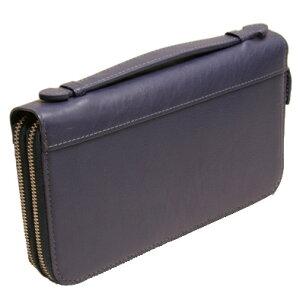 mannishのハンドル付き長財布はWラウンドファスナー使いでベージュ・紺・チョコ・黒の4色展開ですmj4896【送料無料】 メンズ Men's 男性用
