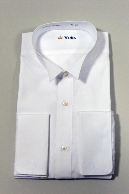 ウイングカラーシャツ 白蝶貝カフスボタン付き 日本製 ウィングカラーシャツ 白 ダブルカフス ウイングシャツ モーニング シャツ カフス付 カフス セット フォーマル メンズ 結婚式 披露宴 39-h58
