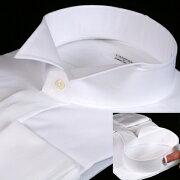 ウイングカラーシャツ カフスボタン スリムフィットモデル フォーマル