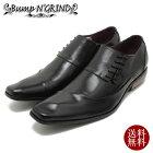BumpN'GRIND/バンプアンドグラインドロングノーズ・サイドレースアップ・本革ビジネスシューズ6001ブラックレザースクエアトゥ/チゼルトゥ/ドレス/紐靴/革靴/仕事用/メンズ/%OFFセール