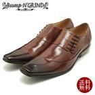 BumpN'GRIND/バンプアンドグラインドロングノーズ・サイドレースアップ・本革ビジネスシューズ6001キャメルブラウンレザースクエアトゥ/チゼルトゥ/ドレス/紐靴/革靴/仕事用/メンズ/%OFFセール