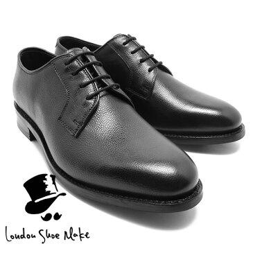 London Shoe Make/Oxford & Derby 8012 グッドイヤーグレインレザープレーントゥシューズ ブラック 本革ビジネスシューズ ビジネス/ドレス/紐靴/革靴/仕事用/メンズ