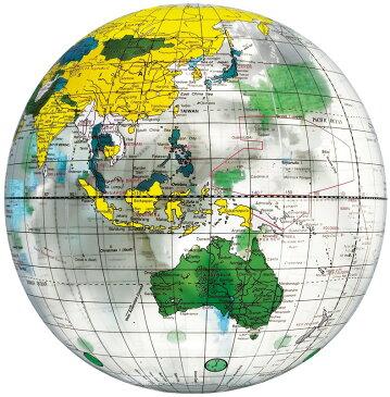 ビーチボール 地球儀ボール クリア
