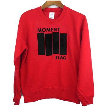 MOMENT(モーメント) FLAG SWEAT オリジナルオーダー対応 (110-150) スウェット トレーナー  ジュニア おしゃれ 男の子 女の子 かわいい 子供服