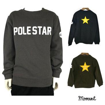 MOMENT(モーメント) POLESTAR SWEAT (110-150) スウェット トレーナー  ジュニア おしゃれ 男の子 女の子 かわいい 子供服