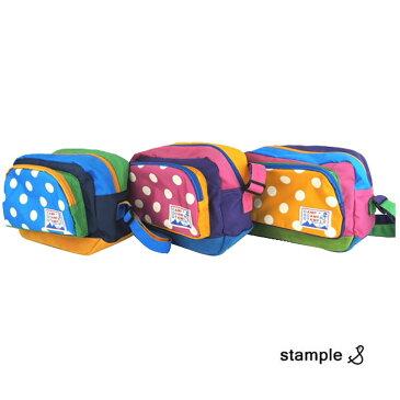 名入れ刺繍可能 STAMPLE (スタンプル) ナイロンドット 通園バッグ 保育園 ギフト 子供  かわいい