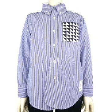 SOLBOIS(ソルボワ) ストライプ ボタンダウンシャツ (110-120) おしゃれ キッズ 男の子 かわいい 子供服 入学式 フォーマル