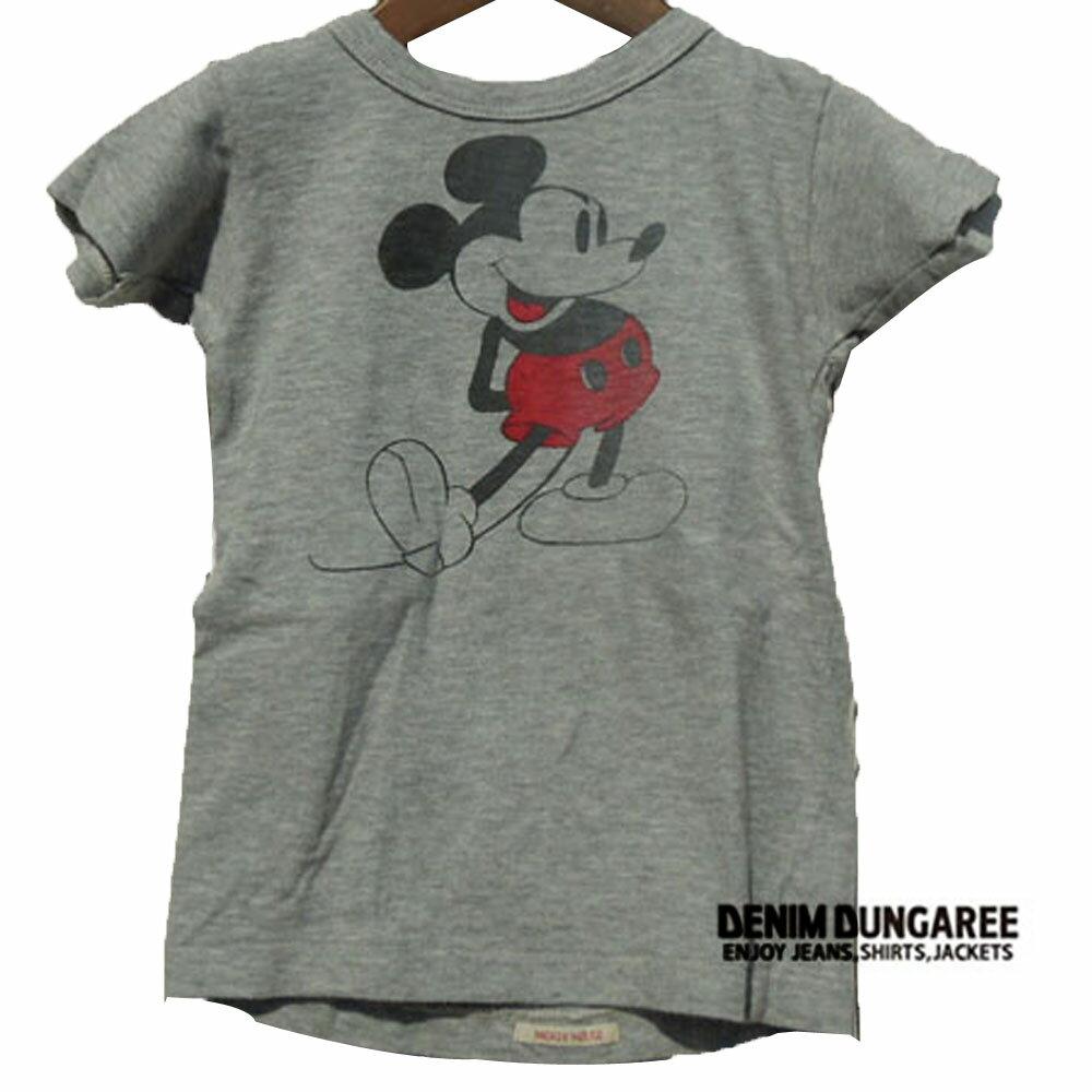 DENIM DUNGAREE ( デニム&ダンガリー) カラートップテンジク MICKEY CHEESE TEE(150-160) 半袖 おしゃれ キッズ 男の子 女の子 かわいい 子供服