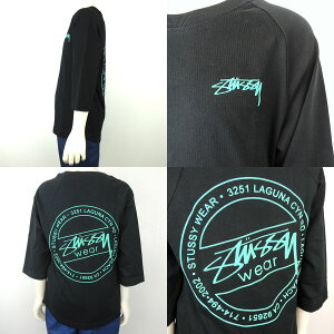 STUSSY(ステューシー)KIDSLAGUNADOTRAGLAN7分袖Tシャツ(90-130)おしゃれキッズ子供服男の子女の子
