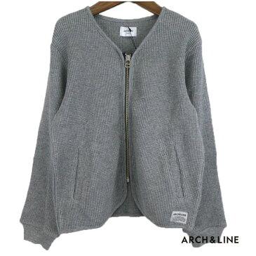 ARCH&LINE(アーチ&ライン)WAFFLE ZIP CARDIGAN カーディガン (115-150) キッズ 子供服 長袖 女の子 男の子