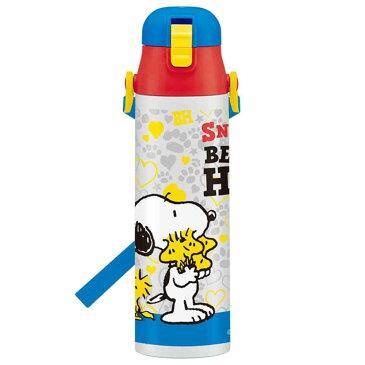 PEANUTS(ピ−ナッツ) SNOOPY スヌーピー 超軽量ロック付きワンプッシュダイレクトステンレスボトル 800ml 水筒 お弁当箱 キッズ 子供 おしゃれ かわいい 男の子 女の子