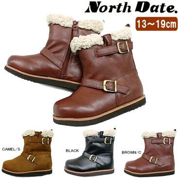 キッズ ムートンブーツ ショート ノースデート North Date [YTA 3004/3104] 子供ブーツ