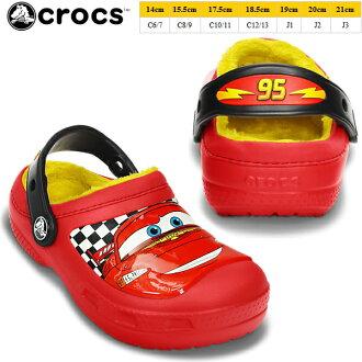 Crocs 孩子的嬰兒 Cars2 時鐘樂隊 crocs 創意 crocs 麥昆襯木屐 15260 創意 Crocs 麥昆琳達 yogui 汽車 2 迪士尼皮克斯涼鞋木屐孩子堵塞涼鞋-