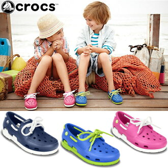 卡駱馳鞋孩子海灘線船鞋 crocs 海灘線船鞋花邊 PS 15915 兒童鞋涼鞋休閒涼鞋 fs04gm